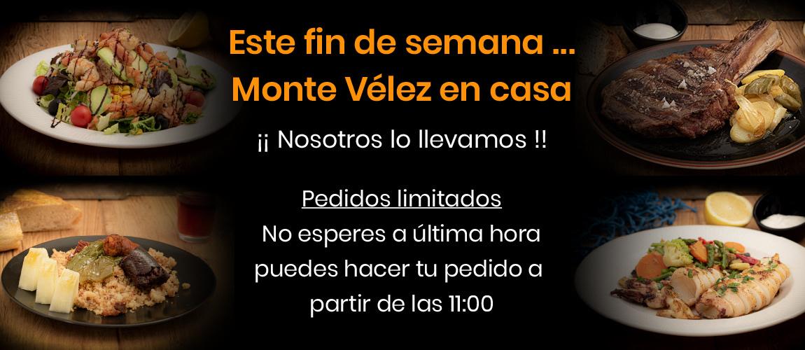 Carta para llevar Monte Velez Huetor Vega Granada. Comida mediterránea y barbacoa.