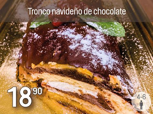 Tronco navideño de chocolate. Prepración especial de Navidad Monte Velez 2020