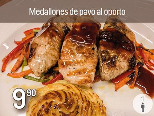 Medallones de pavo al Oporto. Prepración especial de Navidad Monte Velez 2020